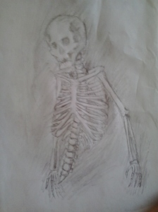 Mortal ghost enemy from arc2, Honestly my first time to properly draw a skeleton.